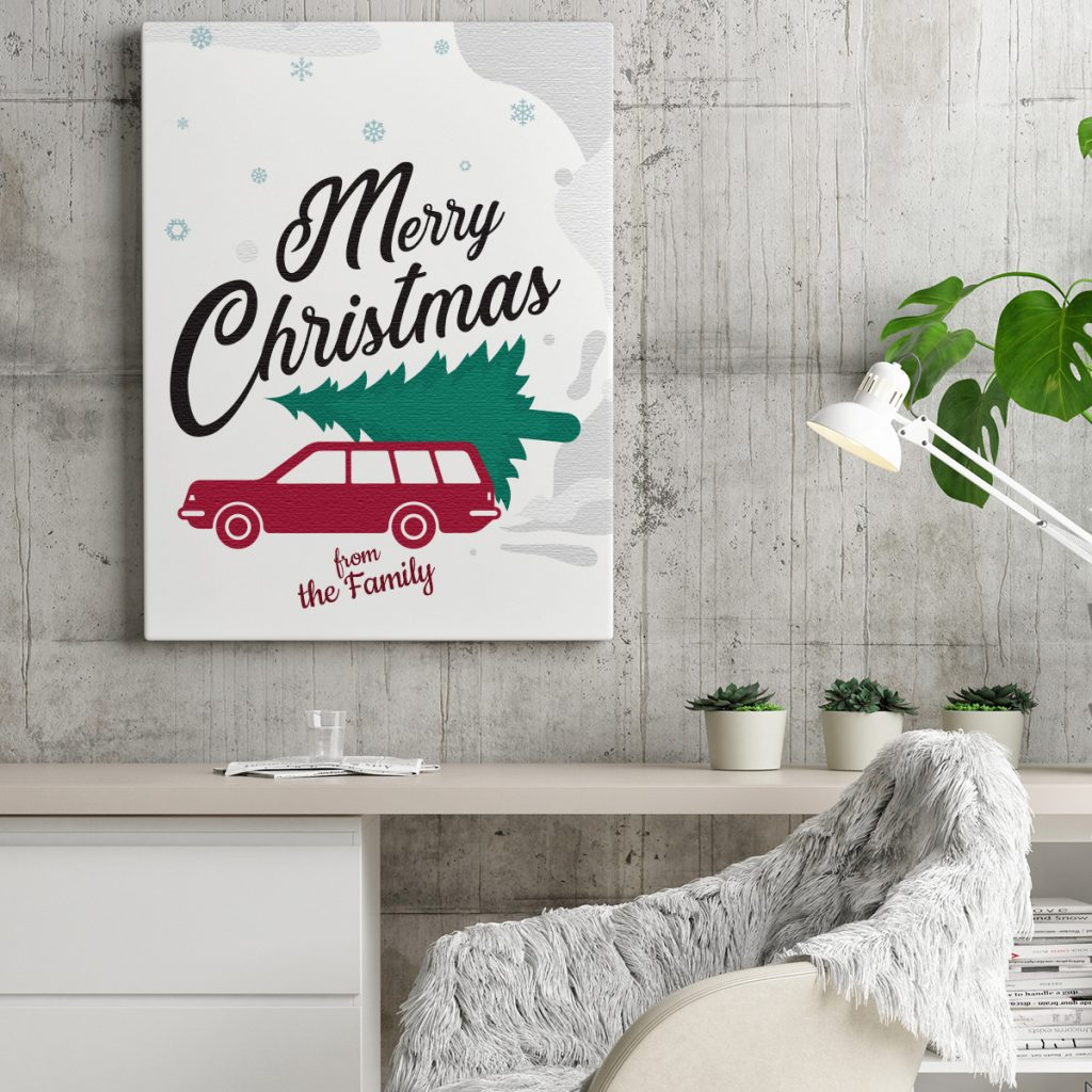 Merry Christmas Wall Canvas