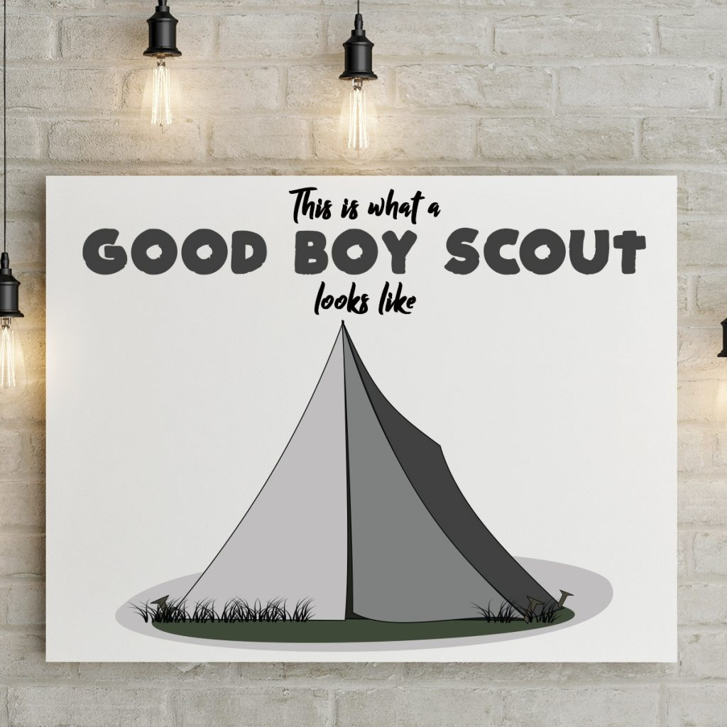 This is what a good boy scout looks like canvas